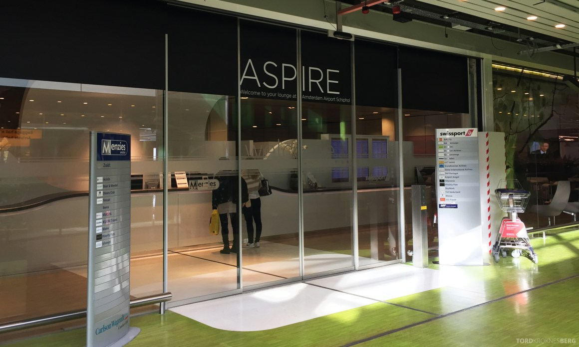 Aspire Lounge Schiphol Amsterdam inngang
