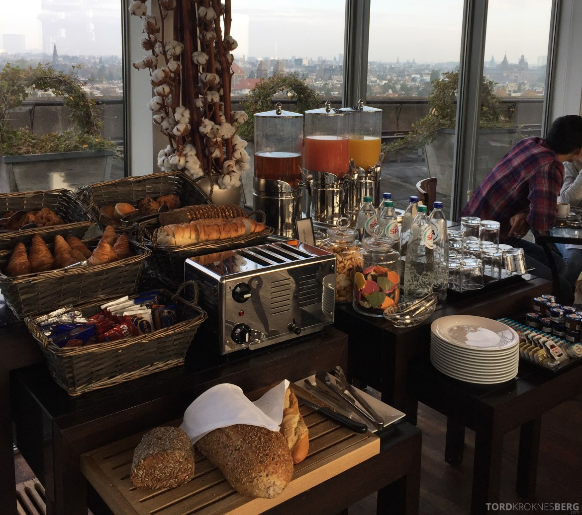 Hilton Amsterdam Executive Lounge frokost