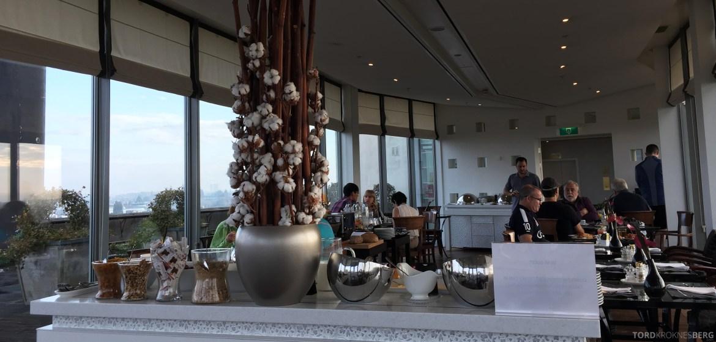Hilton Amsterdam Executive Lounge utsikt inn