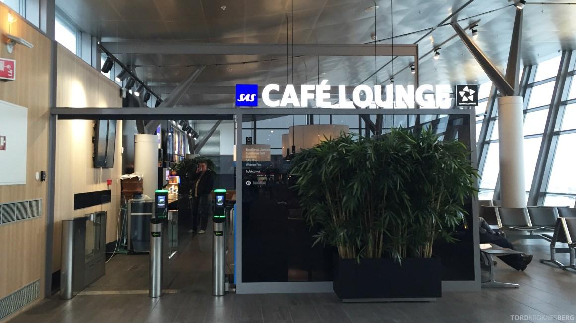 SAS Café Lounge Trondheim inngang