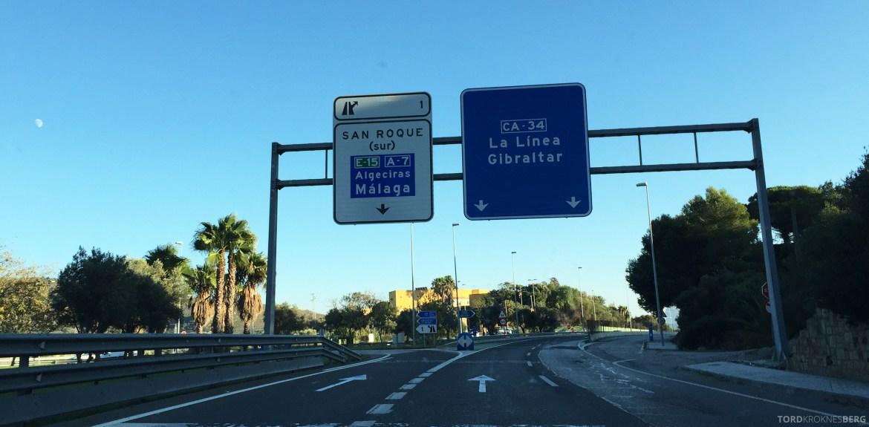 Leiebil Spania Gibraltar skilt