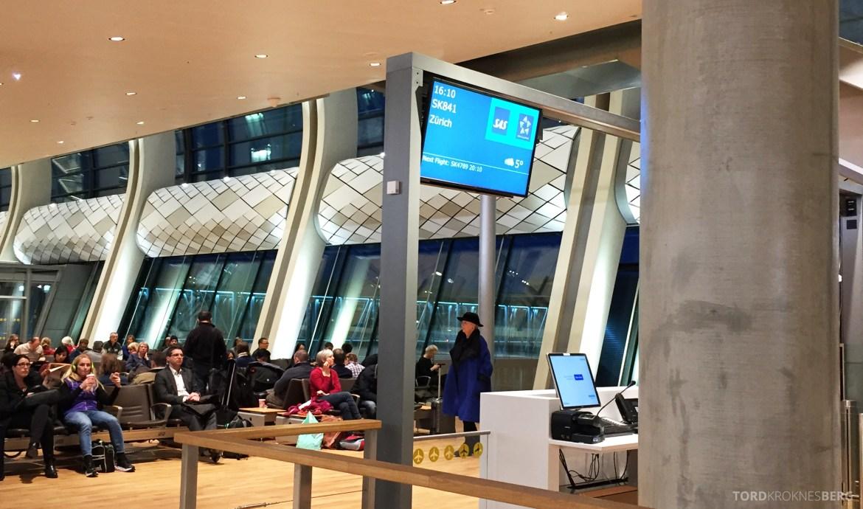 SAS Plus Oslo Zürich gate