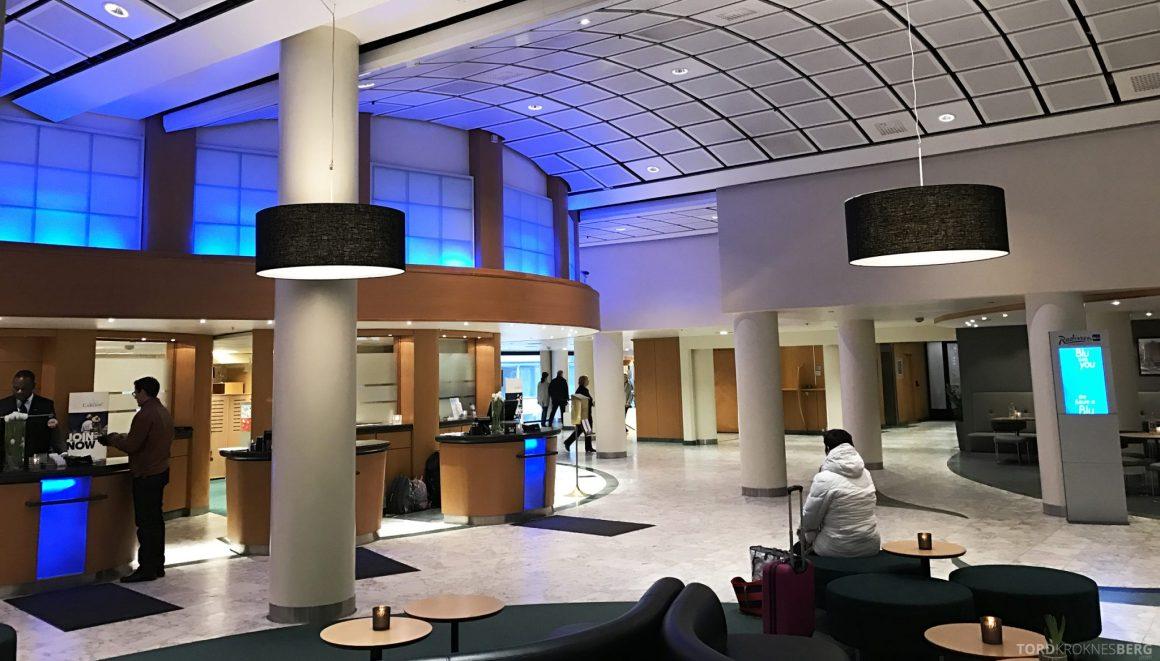 Radisson Blu Scandinavia Hotel resepsjon