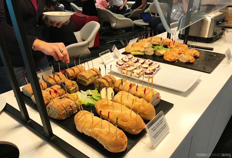 Avianca VIP Lounge Miami sandwich