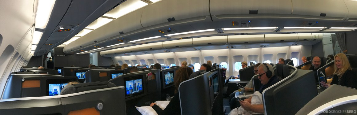 SAS Business Oslo til Miami panorama kabin