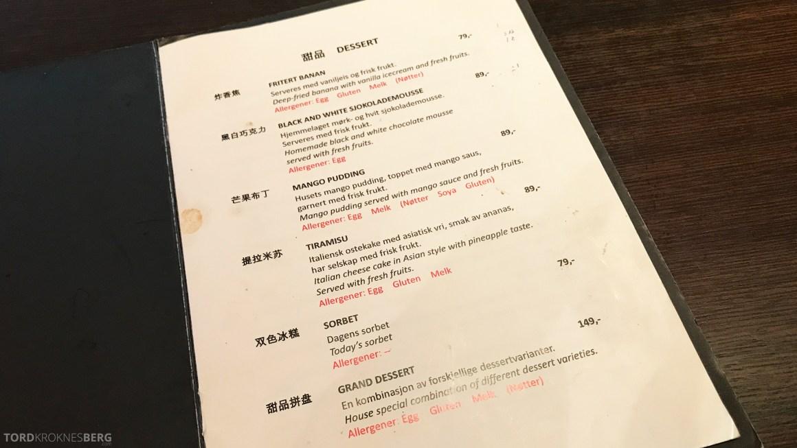 Mahayana Asian Dining Oslo dessert