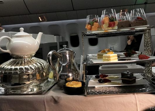 Turkish Airlines Business Class Jakarta Istanbul dessert