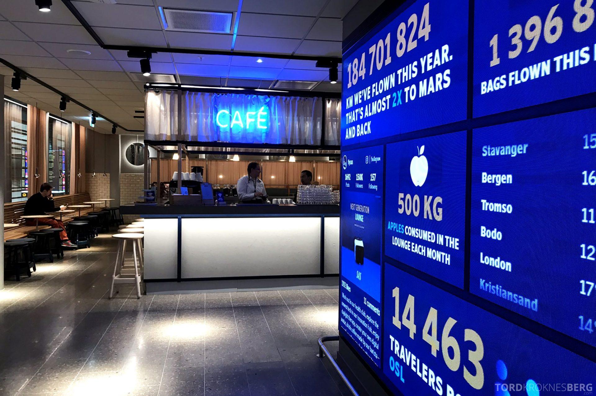 SAS Lounge Oslo Innland inngangsparti