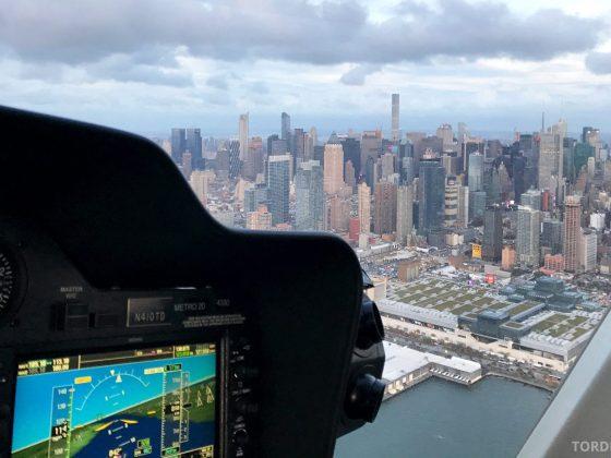 Helikopter New York cockpit