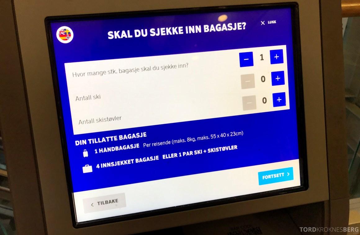 SAS Plus Oslo Paris bagasje