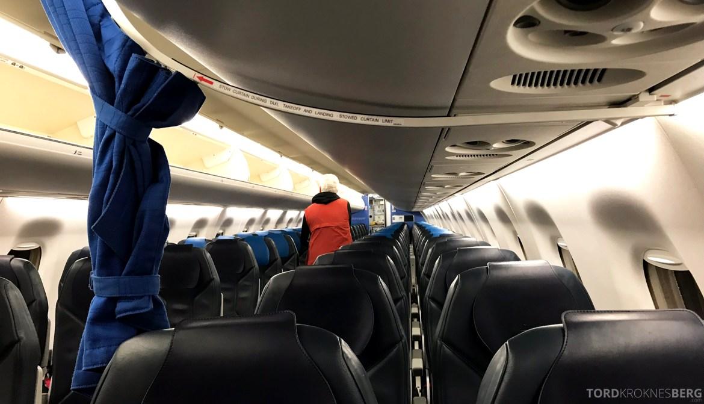 KLM Business Class Trondheim Amsterdam kabin