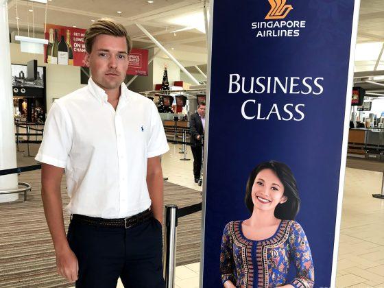 Singapore Airlines Business Class Brisbane Singapore Tord Kroknes Berg