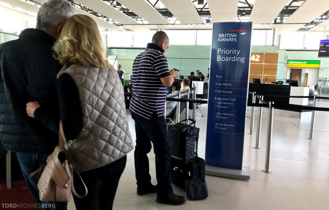 British Airways First Class London Miami gate