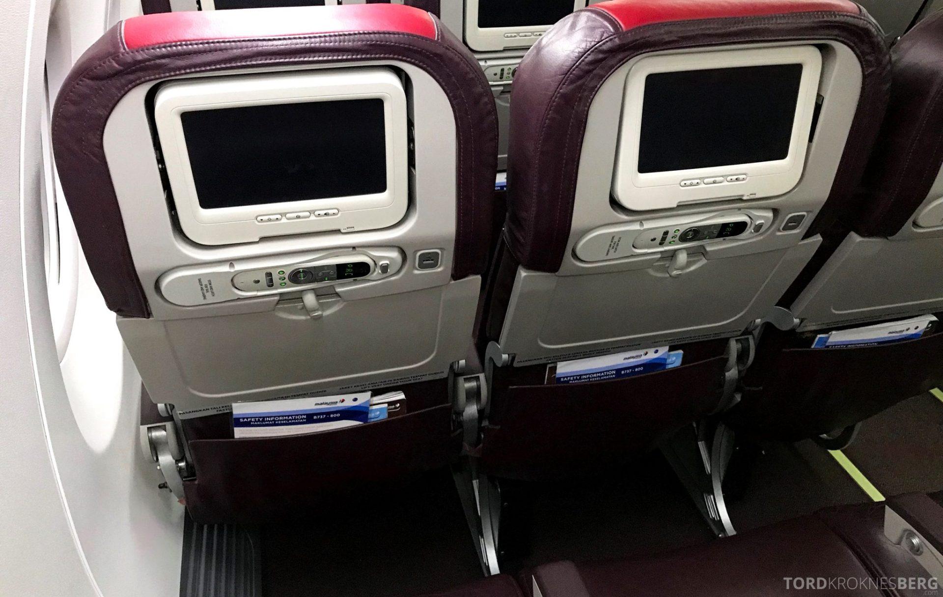 Malaysia Airlines Economy Class Kuala Lumpur Penang seter