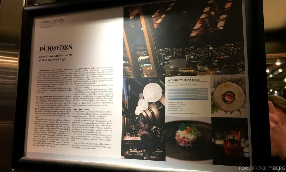 34th Restaurant & Bar Radisson Blu Oslo Plaza Hotel Dagbladet