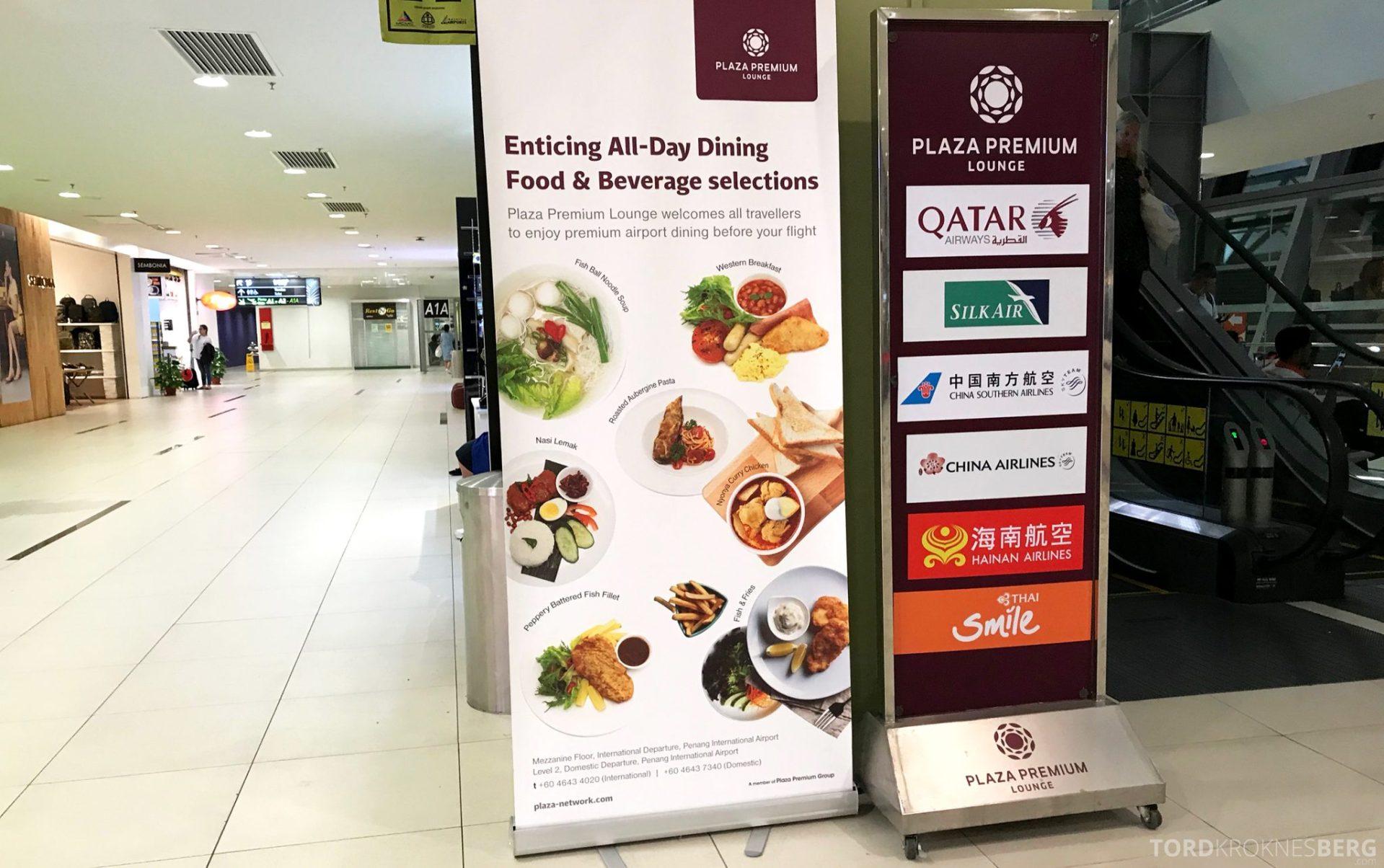 Plaza Premium Lounge Penang fristende reklame