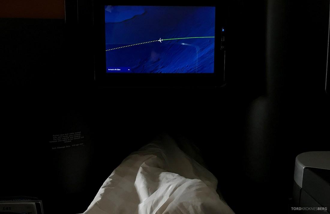 SAS Business Class Oslo Washington god natt