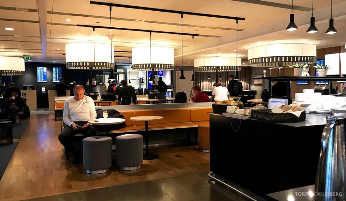SAS Lounge International Oslo Gardermoen oversikt buffet