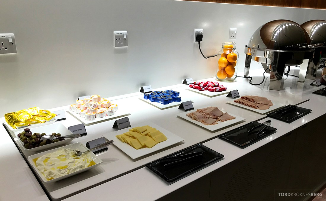 Oryx Business Lounge Doha buffet pålegg