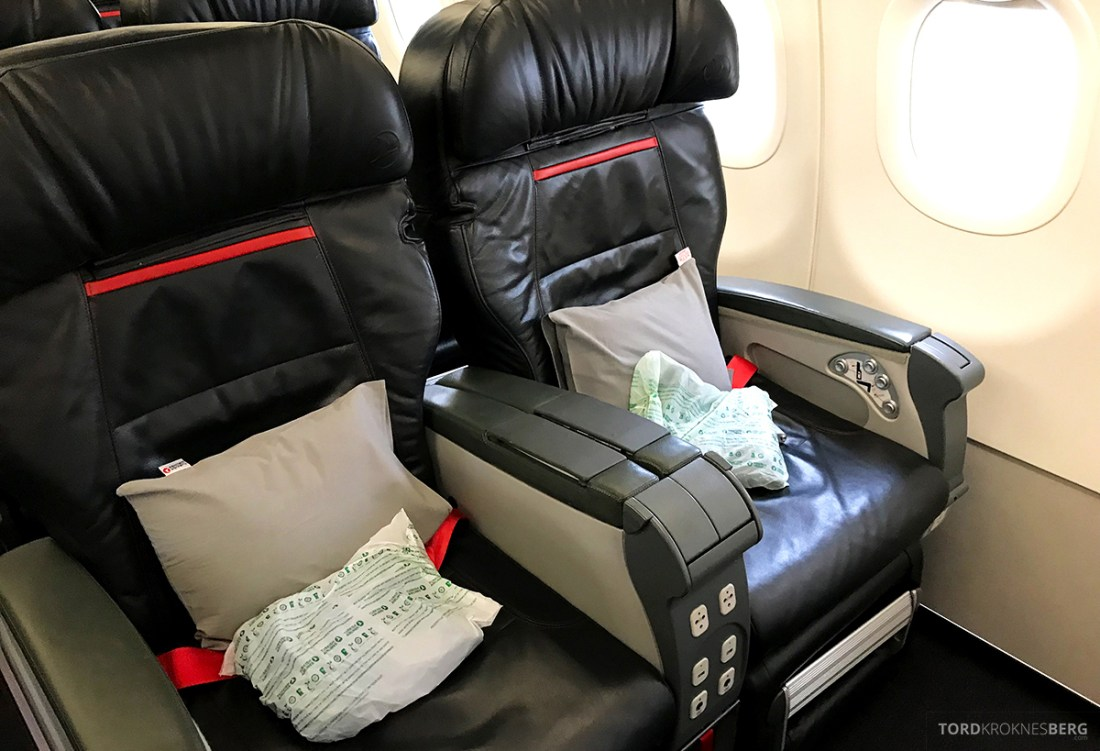 Turkish Airlines Business Class Doha Istanbul Oslo sete
