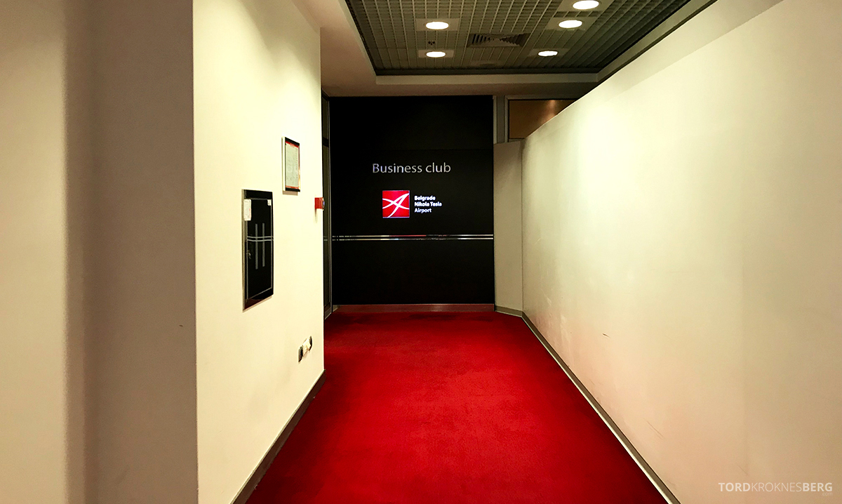Business Club Lounge Beograd inngangsparti
