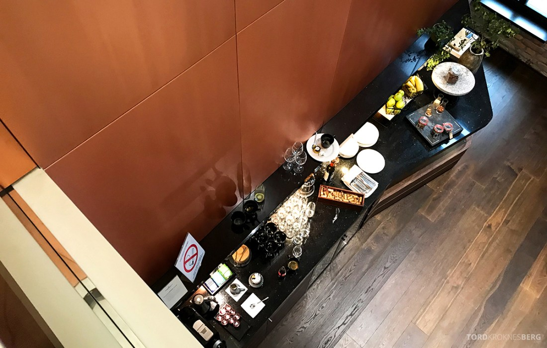 Radisson Collection Hotel Old Mill Belgrade Executive Lounge buffet ovenfra