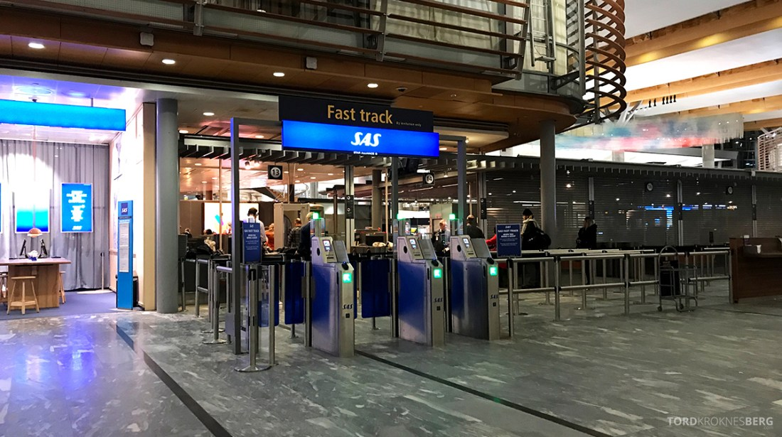 SAS Ireland Oslo London fast track