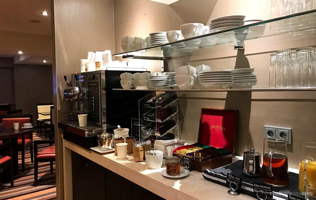Sheraton Hotel Stockholm Club Lounge kaffemaskin