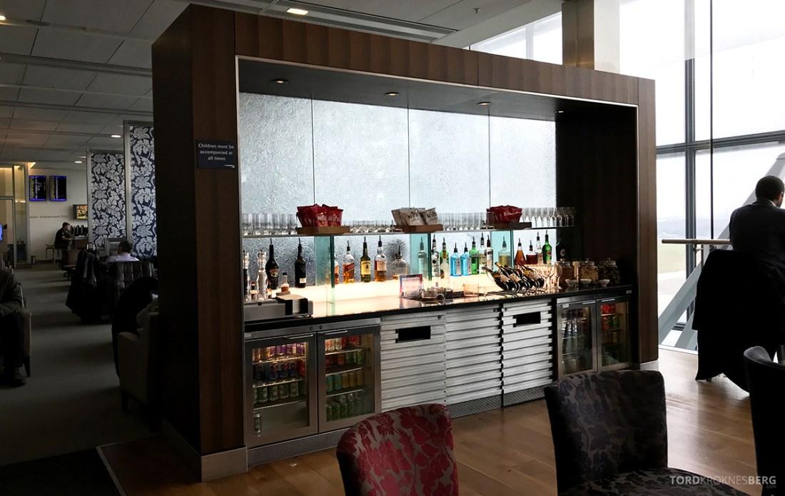 British Airways Galleries Club Lounge Heathrow London bar
