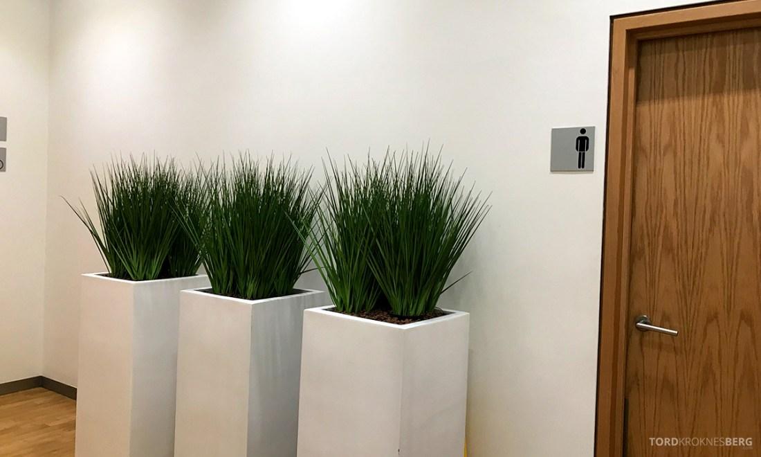 Lufthansa Senator Lounge London Heathrow toalett inngang