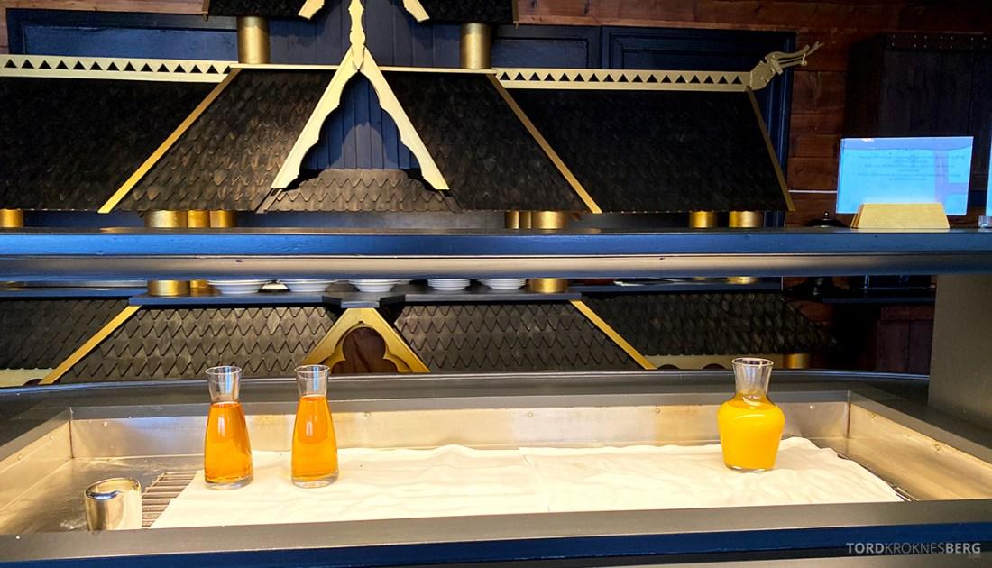 Leikanger Fjord Hotel juice frokost