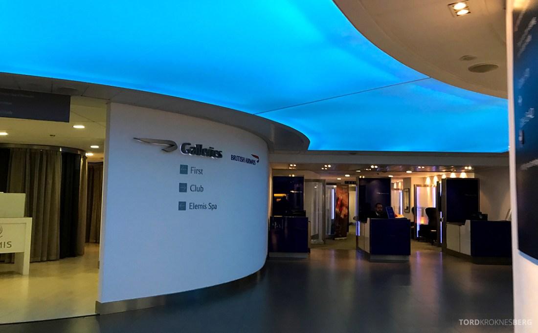 British Airways Club Europe Oslo Lisbon Club Lounge inngang