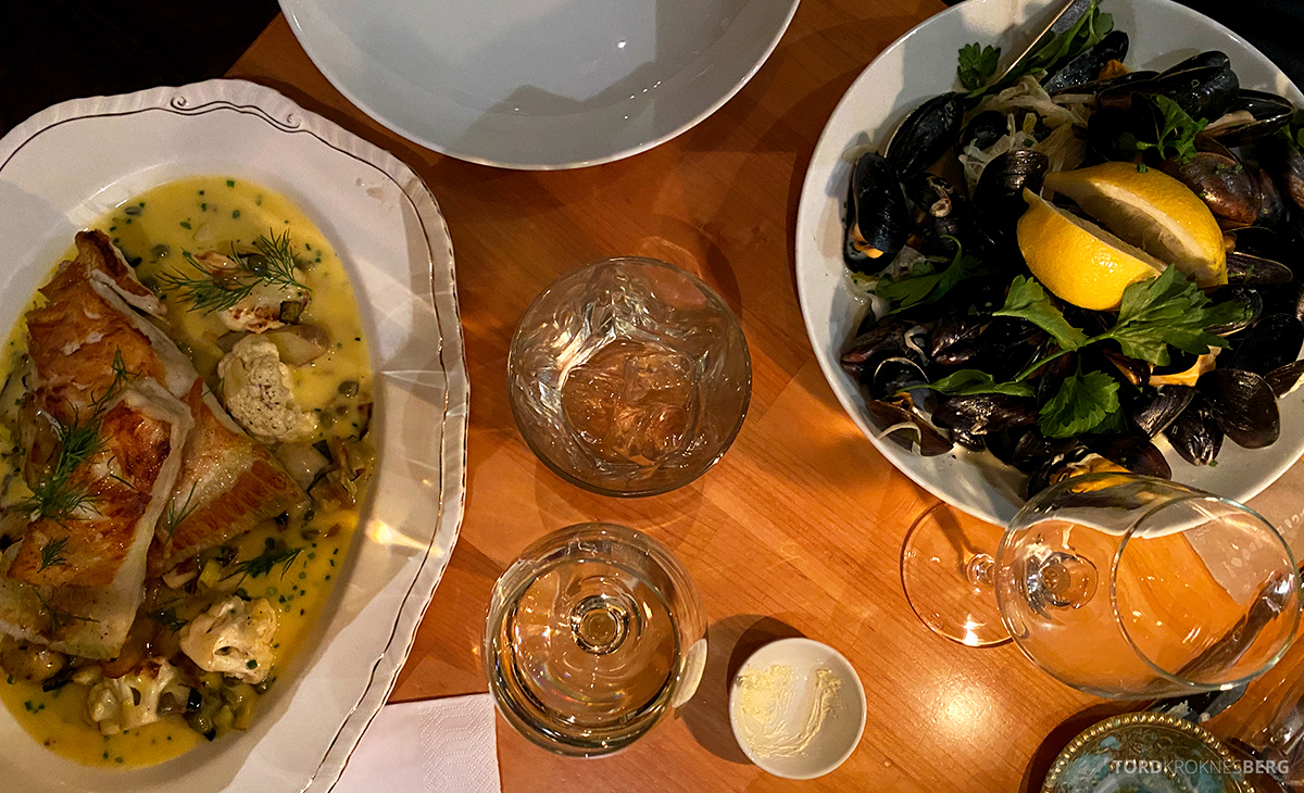 Le Bistro Restaurant Trondheim piggvar og blåskjell
