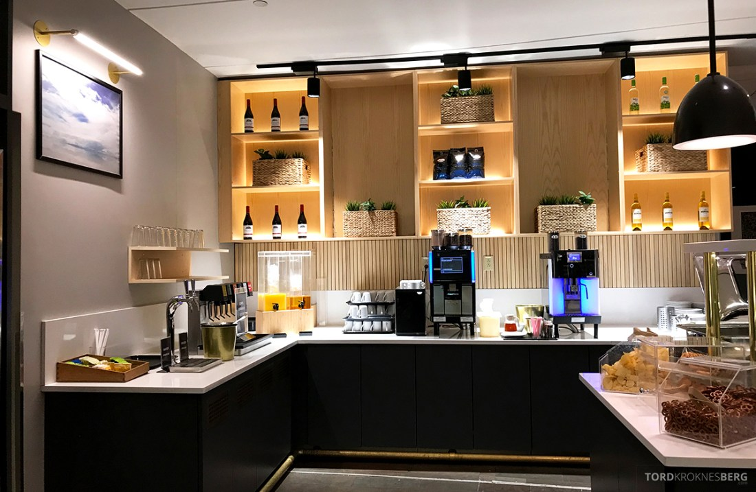 SAS Plus New York Oslo direkte lounge buffet