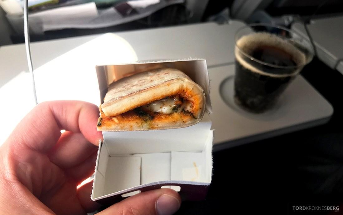 Qatar Airways Economy Class Doha Oslo snack