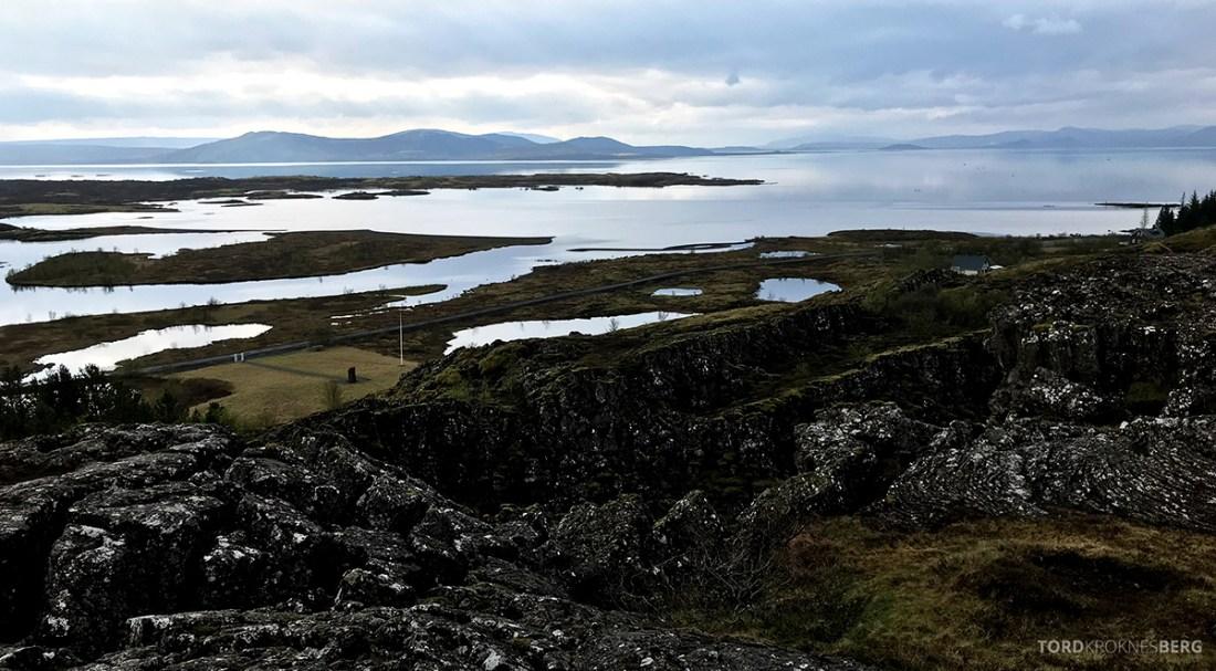 Golden Circle Tour Island Þingvellir nasjonalpark utsikt