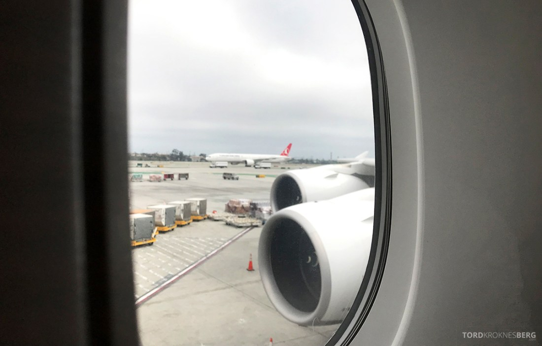 Lufthansa Premium Economy Los Angeles Oslo adjø LA