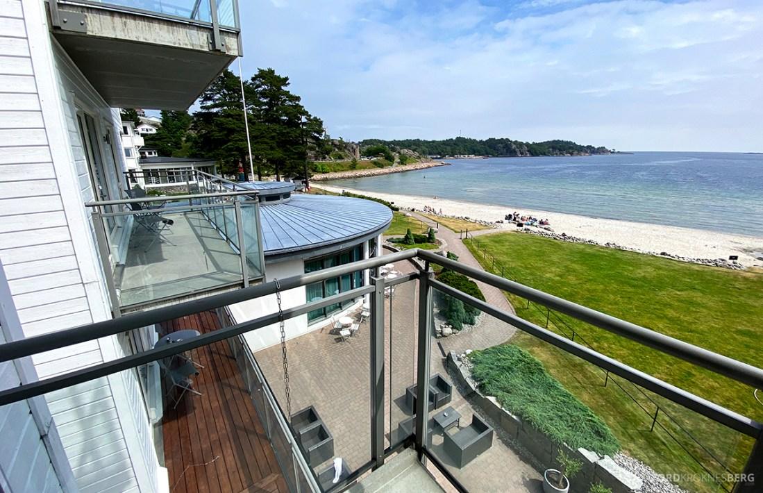 Strand Hotel Fevik utsikt balkong