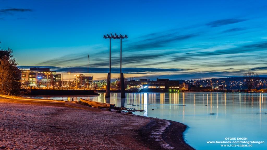 Tidlig morgen over Hamar by sett fra Koigen