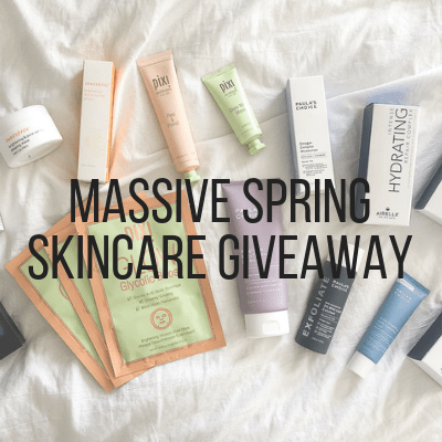 March Recap +Skincare Giveaway