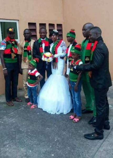 %name Photos Of Couple Who Wore IPOB Costume At Their Wedding In Owerri