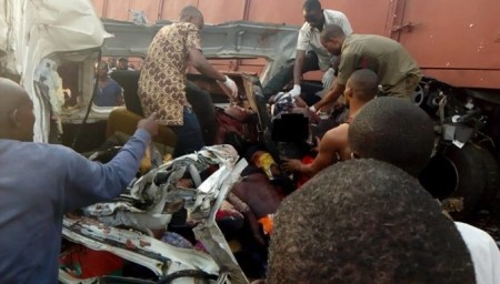 ore2 Many Killed As Truck Crushed Commercial Bus Along Lagos-benin Highway (pics)