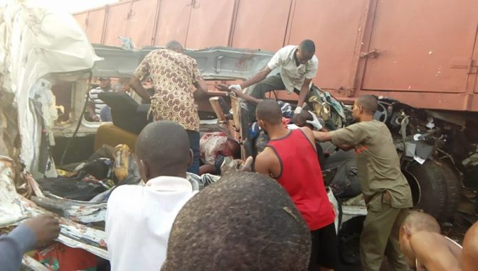 ore3 - Many Killed As Truck Crushed Commercial Bus Along Lagos-benin Highway (pics)