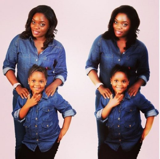 Image result for bisola and daughter