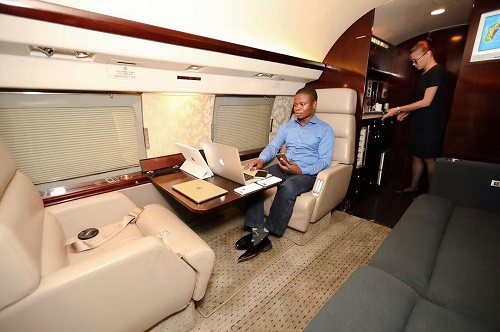 Inside The Exotic Private Jet Of One Of Africas Richest