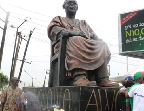 awolowo statue 1 (Photos) Lagos State Governor Unveils Statue of Legendary Chief Obafemi Awolowo in Ikeja