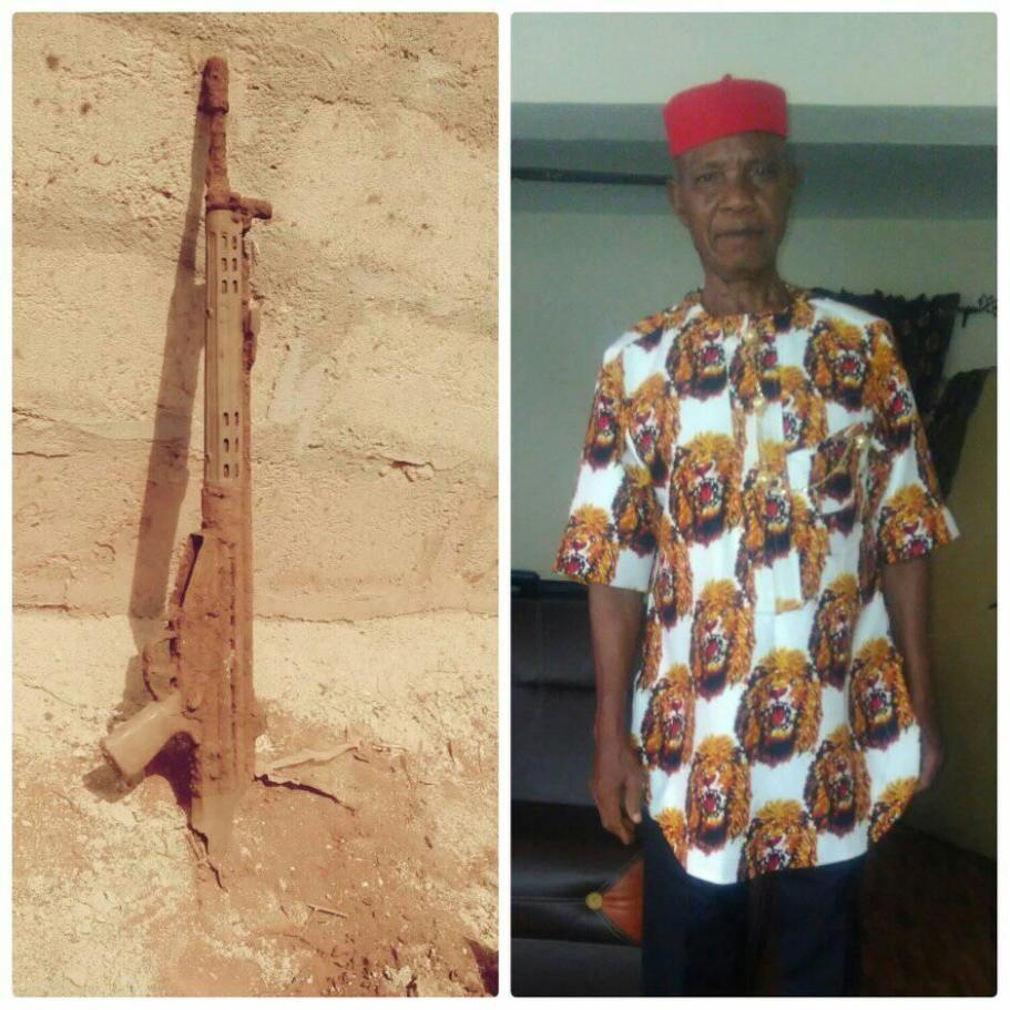 Photos After 47 Years Nigerian Man Uncovers Gun His Father Fought