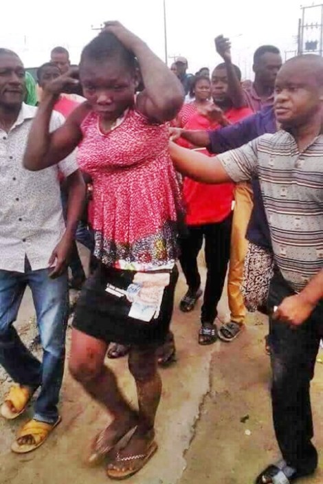 Man Who Disguised as a Lady Caught In Kidnapping nabbed and arrested In Rivers State (Photos)