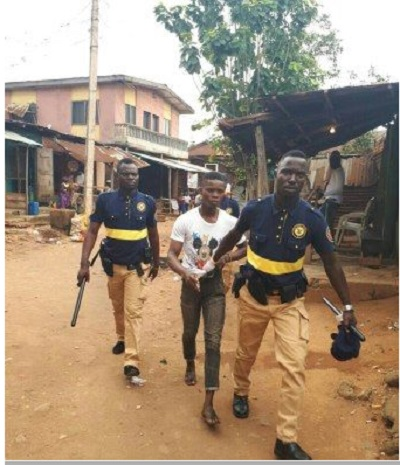 Robbers Arrested While Fighting Over Loot At Bank In Lagos (Photo)