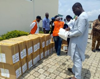 Image result for #EkitiVotes: INEC begins distribution of sensitive materials